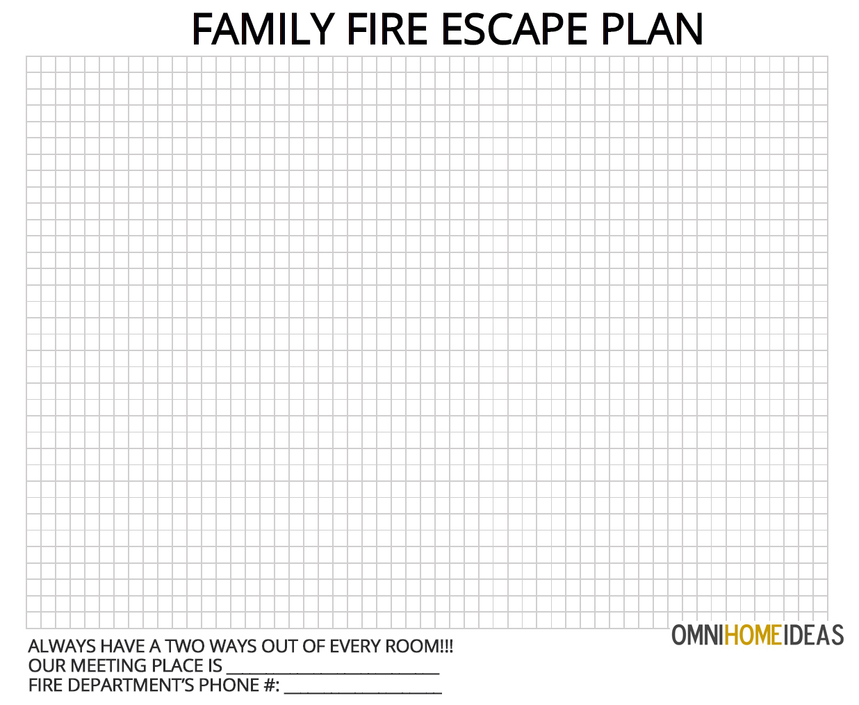printable fire escape plan template how to make a escape plan for home with printable 24067