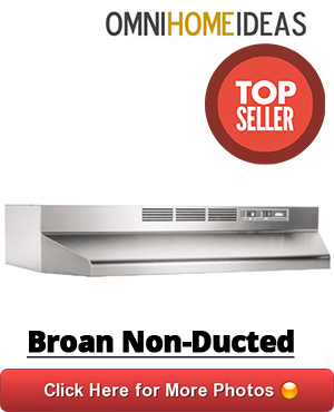 ductless range hood under cabinet by broan