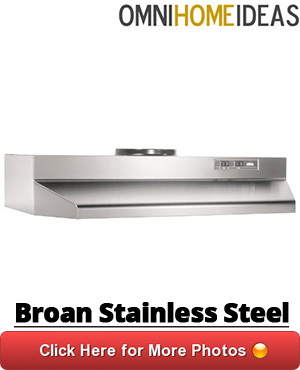 stainless steel under cabinet range hood