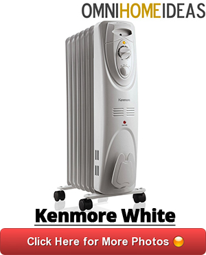 07 kenmore radiator heater white