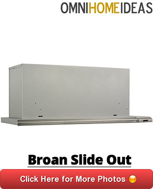 slide out range hood under cabinet