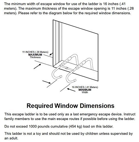 KIDDE REQUIRED WINDOW DIMENSIONS